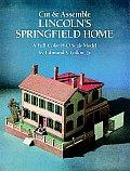 Cut & Assemble Lincolns Springfield Home a Full Color H O Scale Model