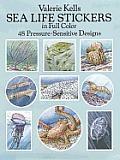 Sea Life Stickers in Full Color: 48 Pressure-Sensitive Designs