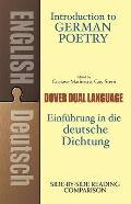 Introduction to German Poetry (Dual-Language) (Dual-Language Books) Cover