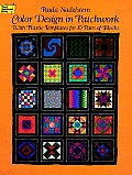 Color Design in Patchwork: With Plastic Templates for 10 Pairs of Blocks (Dover Needlework) Cover