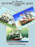Historic Sailing Ships Postcards: 24 Full-Color Paintings (Card Books)