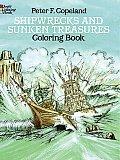Shipwrecks & Sunken Treasures Coloring Book