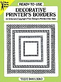 Ready To Use Decorative Printers Borders 32 Different Copyright Free Designs Printed One Side