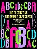 100 Decorative Condensed Alphabets