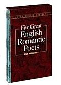 Five Great English Romantic Poets 5 Volumes Byron Shelley Coleridge Wordsworth Keats