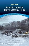 Adventures of Huckleberry Finn (Dover Thrift Editions) Cover