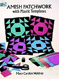 Amish Patchwork with Plastic Templates (Dover Needlework) Cover