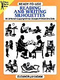 Ready To Use Reading & Writing Silhouettes 95 Different Copyright Free Designs Printed One Side