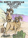 North American Desert Life Coloring Book Cover