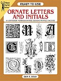 Ready To Use Ornate Letters & Initials 813 Different Copyright Free Designs Printed One Side