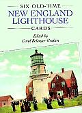 Six Old-Time New England Lighthouse Postcards (Small-Format Card Books)