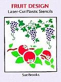 Fruit Design Laser Cut Plastic Stencils