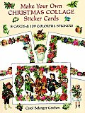 Make Your Own Christmas Collage Sticker Cards 8 Cards & 109 Colorful Stickers