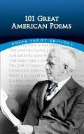 101 Great American Poems Dover Thrift E Cover