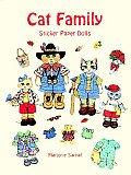 Cat Family Sticker Paper Dolls