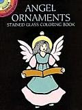 Angel Ornaments Stained Glass Coloring Book (Dover Little Activity Books) Cover