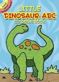 Little Dinosaur ABC Coloring Book (Dover Little Activity Books) Cover