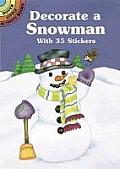 Decorate A Snowman With 34 Stickers