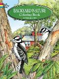 Backyard Nature Coloring Book Cover