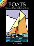 Boats Stained Glass Coloring Book (Dover Little Activity Books)