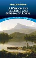 A Week on the Concord and Merrimack Rivers (Dover Thrift Editions) Cover