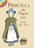 Priscilla the Pilgrim Girl Sticker Paper Doll