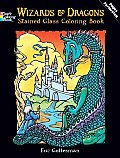 Wizards and Dragons Stained Glass Coloring Book (Eric)