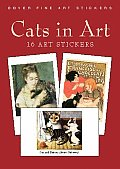 Cats in Art: 16 Stickers (Stickers)