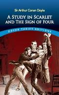 A Study in Scarlet and the Sign of Four (Dover Thrift Editions) Cover