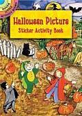 Halloween Picture Sticker Activity Book [With Sticker]