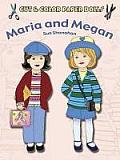 Cut & Color Paper Dolls Maria & Megan
