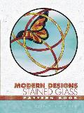 Modern Designs Stained Glass Pattern Book Cover