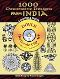 1000 Decorative Designs from India (Dover Pictorial Archives) Cover