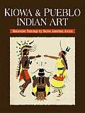 Kiowa & Pueblo Art Watercolor Paintings by Native American Artists
