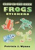 Glow In The Dark Frogs Stickers With Glow In The Dark Stickers