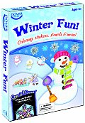 Winter Fun With Stickers & 6 Crayons & 6 Stencils & 3 Coloring Books