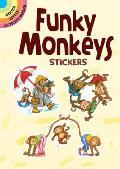 Funky Monkeys Stickers