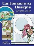 Contemporary Designs Stained Glass Pattern Book Cover