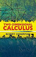 Two-Dimensional Calculus (Dover Books on Mathematics)