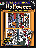 Build-A-Window Stained Glass Coloring Book Halloween