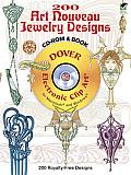 365 Art Nouveau Jewelry Designs (Dover Electronic Clip Art)