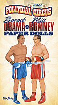 2012 Political Circus Barack Obama vs. Mitt Romney Paper Dolls Cover