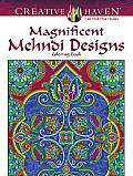 Creative Haven Magnificent Mehndi Designs Coloring Book (Creative Haven Coloring Books)
