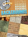 Repeatable Backgrounds--Wood, Brick, Tile and Stone Textures CD-ROM and Book