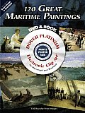 120 Great Maritime Paintings [With CDROM] Cover