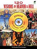 120 Visions of Heaven &amp; Hell [With CDROM] (Dover Electronic Clip Art) Cover