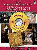 120 Great Paintings of Women CD-ROM and Book (Dover Electronic Clip Art) Cover