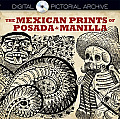 The Mexican Prints of Posada and Manilla (Dover Pictorial Archive) Cover