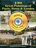 120 Great Paintings of Paris, Rome and London CD-ROM and Book (Dover Electronic Clip Art) Cover