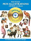 Full Color Pets Illustrations Cd Rom & Book